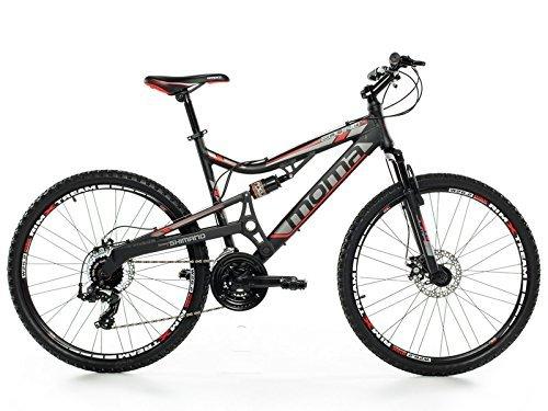 Moma Bikes Montaña Mountainbike 26″ Btt Shimano, Aluminio Disco y Doble Suspensión Bicicleta, Unisex Adulto