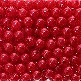 Kunstperle Perlen D 8mm in praktischer Plastikdisplaybox Hochzeit ca. 250 Stück rot