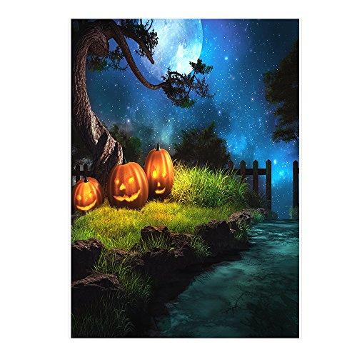 Andoer 6.9 * 5ft / 2.1 * 1.5m Halloween Hintergrund Fotografie Hintergrund Dekoration Kürbis Muster für DSLR Kamera Foto Studio