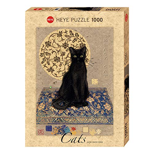 Heye- Puzzle Crowther Black Cat, 1000 Pezzi, VD-29719
