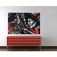 "Bilderdepot24 Autoadhesivo Fotomural ""Bruce Lee roja"" 180x120 cm - papel pintado - Fototapete - la fabricación made in Germany!"
