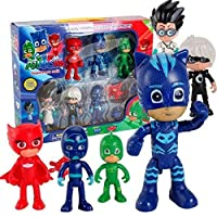 PJ Masks action Figure Set (6 figures with weapons)