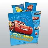 3piezas Cama Reversible Diseño: Disney Cars 3–Bebé (100x 135cm + 40x 60cm + 1sábana bajera en color blanco 70x 140cm