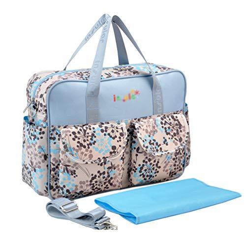 Haobing 2pcs Baby Windeltasche Wickeltasche für Schwangere Wickelhenkeltaschen Umhängetaschen mit Wickelauflage (Löwenzahn, 39 * 12.5 * 29cm)
