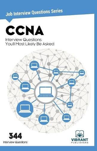 CCNA Interview Questions You'll Most Likely Be Asked: Volume 21 (Job Interview Questions)