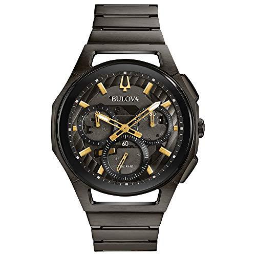 Bulova Orologio Cronografo Automatico Uomo con Cinturino in Acciaio Inox 98A206