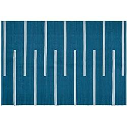 Creative carpets Alfombra para Interiores y Exteriores, Plástico y PVC, Azul, 160 x 230