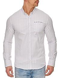 TAZZIO - Chemise raffinée pour homme Chemise 708 blanc - Blanc