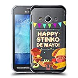 Head Case Designs Stinkt Cinco De Mayo Pun Soft Gel Hülle für Samsung Galaxy Xcover 3