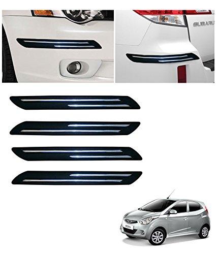 Autowheel Car Bumper Protector with Double Chrome Strip- Hyundai Eon