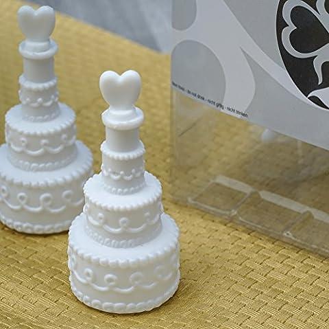 48er Box WEDDING BUBBLES Seifenblasen HOCHZEIT EinsSein® Torte weiss |