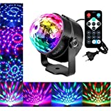 LED Discokugel Nakalus Party Lampe DiscoLicht Musikgesteuert Mit Remote- Steuerung Bühnenbeleuchtung-7 Farbe RGB Led Effekt Lampe