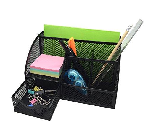 Exerz EX348 Tisch-Organizer/Schreibtisch Organisator/Schreibtisch Tidy/Stifthalter/Multifunktions -Organisator (EX348 Schwarz) - 3