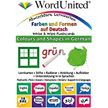 Colours and Shapes in German: Write & Wipe Flashcards