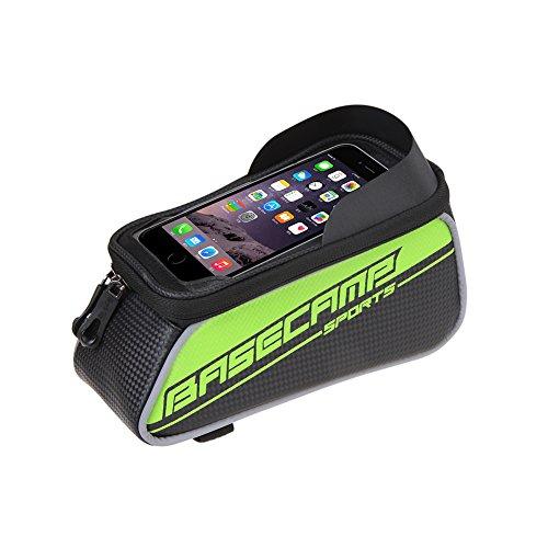 speedspo Wasserdicht Fahrrad Rahmentasche, unten 6.0 Zoll (Grün, Large)