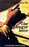 une si longue lettre french edition by mariama ba 1987 paperback