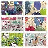 The Big Card Company - Carta da regalo di compleanno mista, 20 fogli confezionati piegati