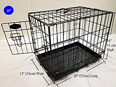 Easipet Dog Cage or Crate in Black for Toy Breeds (831) from Easipet