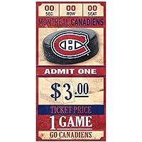 Wincraft Montreal Canadiens NHL Ticket Schild