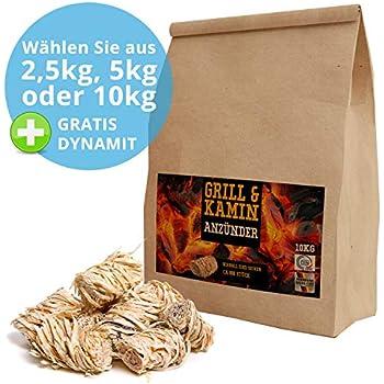 Kamin-Anzünder und Grill-Anzünder Ofen-anzünder Anzündwolle 1kg 1kg//7,99