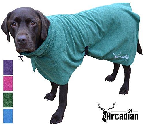 Arcadian Mikrofaser Hunde Bademantel. Diese luxuriösen Bademäntel sind leicht, schnell trocknend und super ()