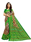 Glory Sarees Art Silk With Blouse Piece (vnArt34_Green_Free Size)