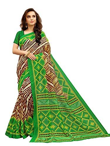 Glory Sarees Women\'s Bhagalpuri Art Silk Saree(vnart34_green)