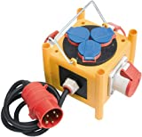 Brennenstuhl Kompakter Stromverteiler BSV 3 -LS/16 IP44 mit Anschlussleitung Baustelleneinsatz und Outdoor, 1153400