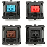 HITSAN 4Pcs A Set 3 Pin Brown Red Blue Black Switch For Mechanical Gaming Keyboard One Piece