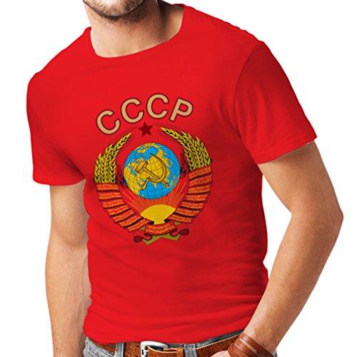 lepni.me Männer T-Shirt СССР UDSSR Sowjetunion russische Flagge und Hymne (X-Large Rot Mehrfarben)