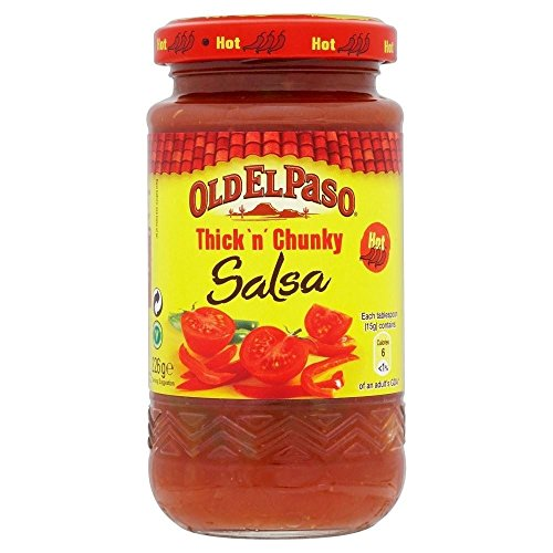 Old El Paso Thick 'n' Chunky Hot Salsa (226g) - Paquet de 6
