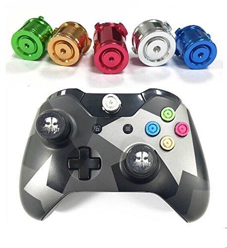 GAMINGER Patronen Aluminium 5er Set farbig für Xbox ONE Microsoft Controller Tuning Mod -
