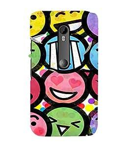 EPICCASE Emojis Mobile Back Case Cover For Moto G 3rd Gen (Designer Case)