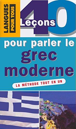 Coffret 40 lecons pour parler le grec moderne (Livre + 3 K7 audio)
