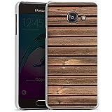 Samsung Galaxy A3 (2016) Housse Étui Protection Coque Look bois Lattes de bois Planches