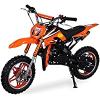 Kinder Mini Crossbike Delta 49 cc 2-takt Dirt Bike Dirtbike Pocket Cross (Orange)