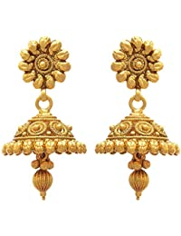 BFC- Buy For Change Ethnic Royal Design One Gram Gold Plated Earrings & Jhumka For Women And Girls