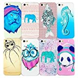 LX Animal Pattern Hard Cases for iPhone 5/5S Color 7# by heywan