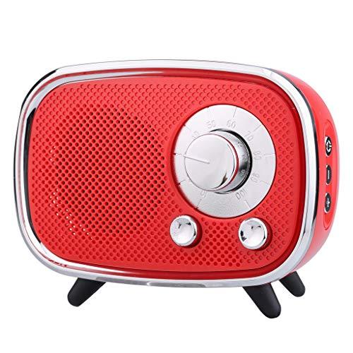 ToDIDAF Q22 Tragbarer Drahtloser Bluetooth-Lautsprecher, Mini-Musik-Player, FM-Radio + USB-Funktion, Schnelles Laden und Langer Standby-Modus - Schwarz/Rot/Blau (Rot)