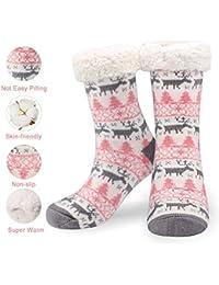 Emooqi Calcetines de estar por casa, Forro Polar Calcetines Inicio Calcetines Casuales Antideslizantes Calcetines Térmicos