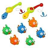Badespielzeug Angelspiel Badespielzeug für Kinder Baby Spielzeug für die Badewanne 6 Stück für Kinder