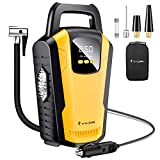 FYLINA Digital Tyre Inflator, Preset Air Compressor Car Pump, 12V 120W 150PSI Tyre