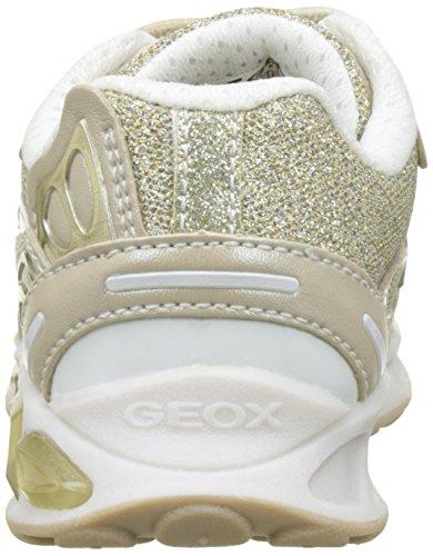 Geox J Shuttle B, Scarpe da Ginnastica Basse Bambina Beige (Beige/off Whitec0662)