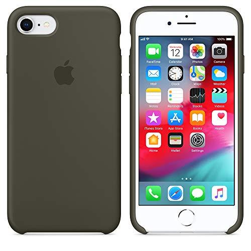 2018 estate ultima custodia in silicone per iphone 7/8 (iphone 7/8, verde oliva)