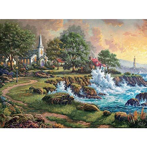 George Seaside Haven By Thomas Kinkade 1000 Piece Puzzle