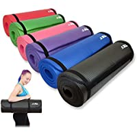 JLL® Yoga Mat Extra Thick 15mm Non-Slip Pilates Workout Exercise Mat available in Black / Blue / Purple / Pink / Green / Red. Also Ideal as Camping Mat.
