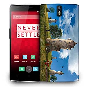 Snoogg Old Times House Designer Protective Phone Back Case Cover For OnePlus One