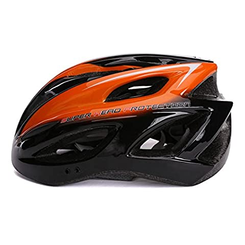 240g Ultra Light Weight Bike Helmet, Adjustable Sport Cycling Helmet Bike Bicycle Helmets For Road & Mountain Biking,Motorcycle For Adult Men & Women,Youth - Racing,Safety ( Color : Orange white