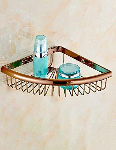 WANNA.ME Startseite Bad Kupfer Rack solide Warenkorb Warenkorb Rack Bad Münzablage erhalten Sie Qualität A ++++ (Kapazität: 21 * 33 cm, Farbe: 2)