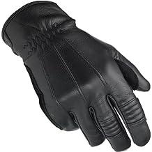 Biltwell trabajo piel Cruiser Custom Cafe Racer Retro guantes de moto Negro negro Talla:large